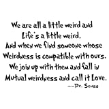 HACASO'We are All A Little Weird' Bedroom Quote Decors Wall Saying Decals Quote for Home Wall Stickers Nursery Room Decor