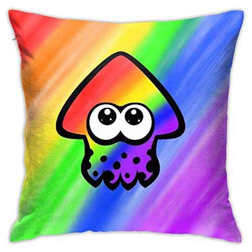 wuhandeshanbao Squid_Splatoon_Logo Throw Pillow Cover Dekorative Sofa Quadratische Kissen Kissenbezüge 45,7 x 45,7 cm
