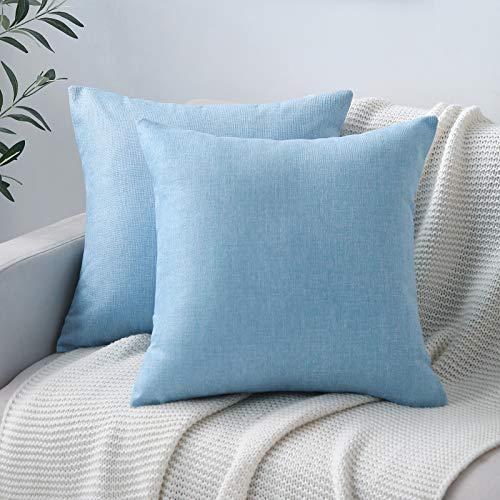 light blue couch pillows - 2