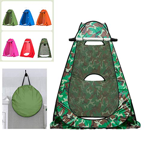 Portable Pop Up Privacy Shower Tent Spacious Changing Room for Camping Hiking Beach Toilet Shower Bathroom,B