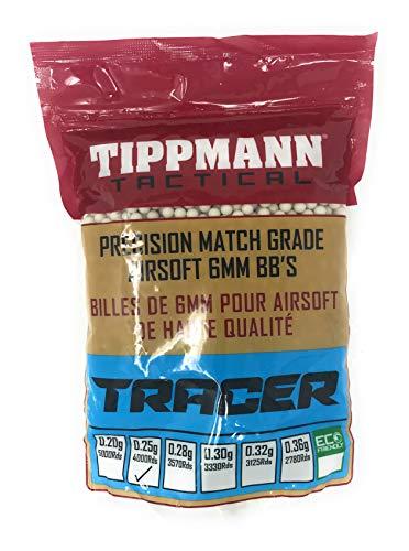 Tippmann Tactical Airsoft - 6mm BB Pellets 0.25 Grams 4000pcs (1Kg Bag) Green Tracer
