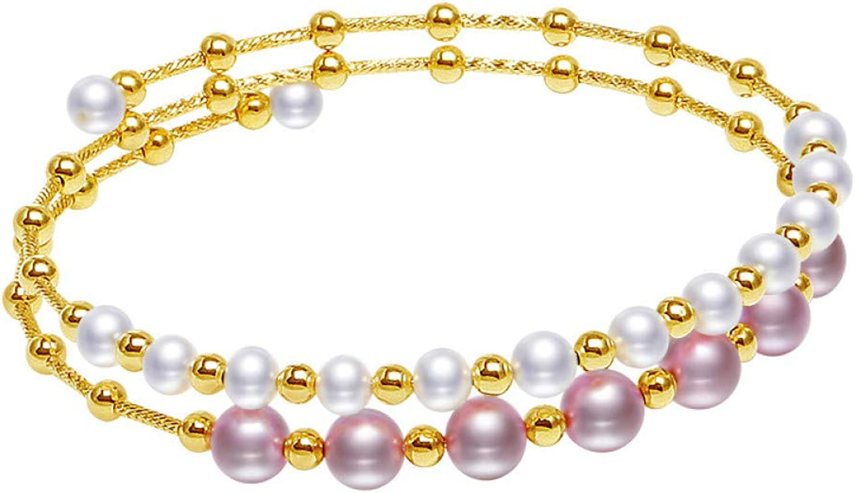 KKTOOL Natural White Silver Bracelet Pearl Bracelet Jewelry