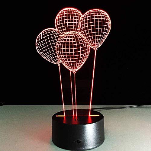 Trolls Poppy 3D ilusión nocturna luz anime 3D lámpara de ilusión óptica, cargador USB, bonito juguetes geniales regalos Ideas cumpleaños vacaciones Navidad para bebé