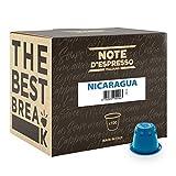 Note d'Espresso - Cápsulas de café de Nicaragua exclusivamente compatibles con cafeteras Nespresso, 100 unidades de 5,6g