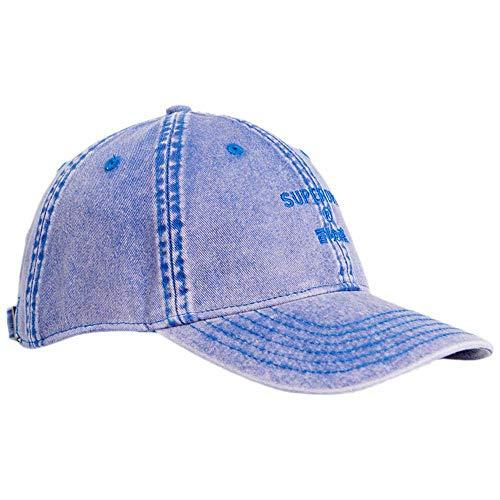 Superdry Wash Cap Gorra de béisbol, Azul (Acid Blue Gnz), OS (Talla...