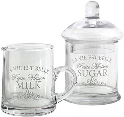 Preisvergleich für Set aus Milchkännchen und Zuckerdose, Vintage-Stil, Retro-Design