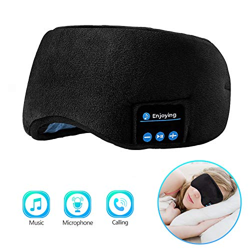 Sleep Headphones Bluetooth Eye Mask, Joseche Wireless Bluetooth 5.0 Headphones Music Travel Sleeping...