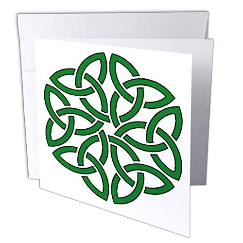 3dRose Shamrock Celtic Art Knotwork Design - Greeting Cards (gc_307200_2)