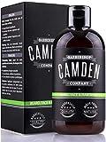 Champú para barba 2 en 1 de Camden Barbershop Company ● Cuidado natural para la barba y limpieza...