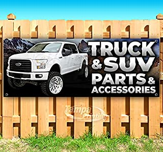 Truck & SUV Parts & Accessories 13 oz Heavy Duty Vinyl Banner Sign with Metal Grommets, New, Store, Advertising, Flag, (Many Sizes Available)