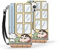 クレヨンしんちゃん Iphone12 / Iphone12pro / Iphone12mini / Iphone12 Pro Max 対応 スマートフォン用ケース 財布型 Puレザー スタンド マグネット機能 カード収納 Tpu保護カバー 耐衝撃 落下防止 軽量 スリム 薄型 傷防止 可愛い スマホケース スマホカバー