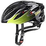 uvex Boss Race Casco de Bicicleta, Unisex-Adult, Lime-Anthrazit, 55-60 cm
