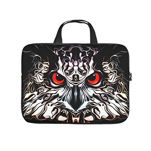 Owl Black Laptop Sleeve Case Protective Bag Waterproof Briefcase for Computer Notebook MacBook White 17 Zoll