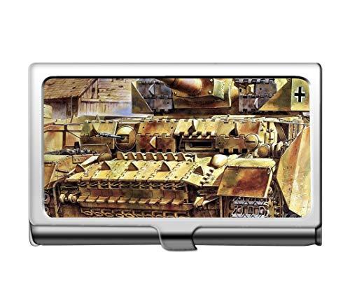 Estuche para tarjetas de crédito para empresas profesionales/estuche de identificación, tarjeta militar de acero inoxidable Panzer IV