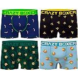 Crazy Boxer Pack 4 Calzoncillos Frutas para Hombre