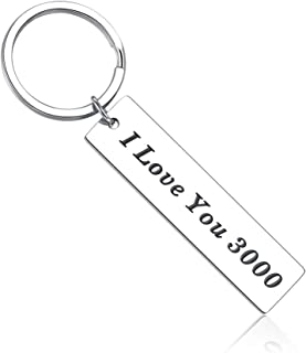 I Love You 3000 Keychain for Girlfriend Boyfriend Dad Mom Birthday Gifts from Daughter Son Iron Man Inspired Gift for Husband Wife Boys Girls Wedding Anniversary Christmas Presents for Her Him Couple