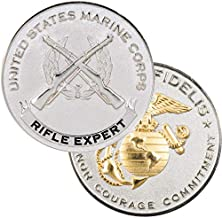 Medals of America USMC Rifle Expert Challenge Coin Silver