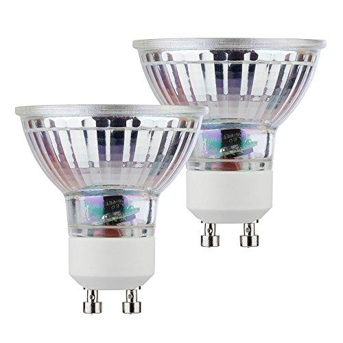 MÜLLER-LICHT 2er-Set Retro-LED Reflektor ersetzt 50 W, Glas, GU10, 5 W, Silber, 5 x 5 x 5.3 cm, 2 Einheiten