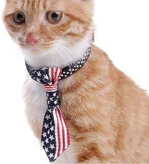 NACOCO Dog Flag Neck Ties Adjustable Pet Collar Bowtie Nylon Soft Cat Accessories for Small Medium Dogs Kitten