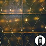 woohaha LED Net Mesh Fairy String Decorative Lights 192 LEDs 9.8ft x 6.6ft with 30V Safe Voltage for...