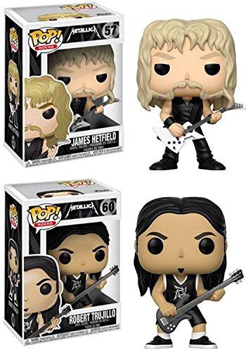 Funko Pop! Metallica: James Hetfield + Robert Trujillo - Vinyl Figure Set New