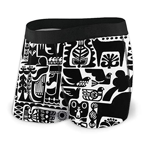 EDCVF Boxer-Slips für Tier-Graffiti-Kunstmänner & Acirc; & Euro; Box-Slips mit integrierter Unterstützung für Gerichtstaschen
