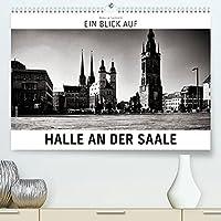 Ein Blick auf Halle an der Saale (Premium, hochwertiger DIN A2 Wandkalender 2022, Kunstdruck in Hochglanz): Ein ungewohnter Blick in harten Schwarz-Weiss-Bildern auf Halle an der Saale (Monatskalender, 14 Seiten )