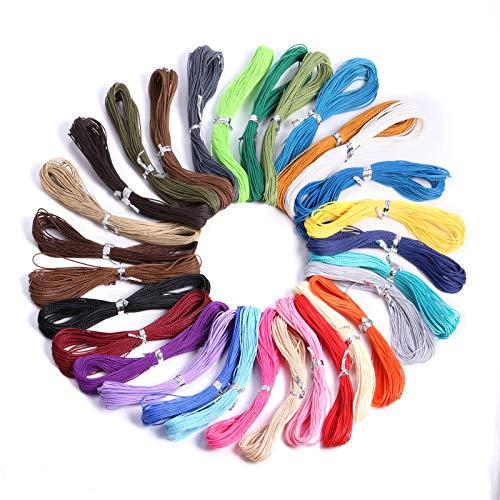 ALEXCRAFT Cuerda trenzada de hilo de cera colorida.