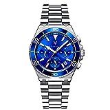 Reloj Hombre Berlin - Caja de 41mm - Relojes Scorpion - Esfera Azul - Plata - Acero Inoxidable - Cuarzo