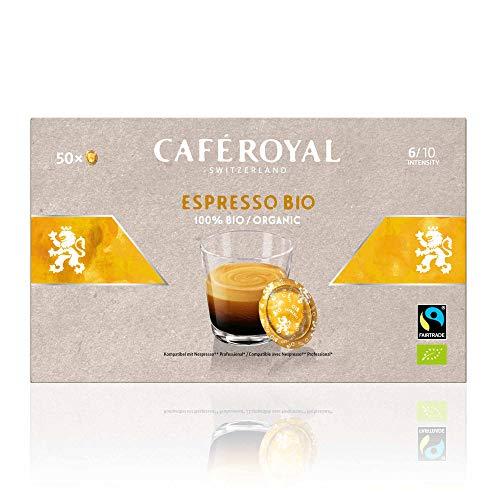 Café en dosettes compatibles Nespresso Pro saveur Espresso BIO 5 x 50 Café Royal Pro
