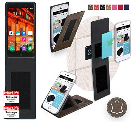 Hülle für Elephone P9000 Lite Tasche Cover Hülle Bumper | Braun Wildleder | Testsieger