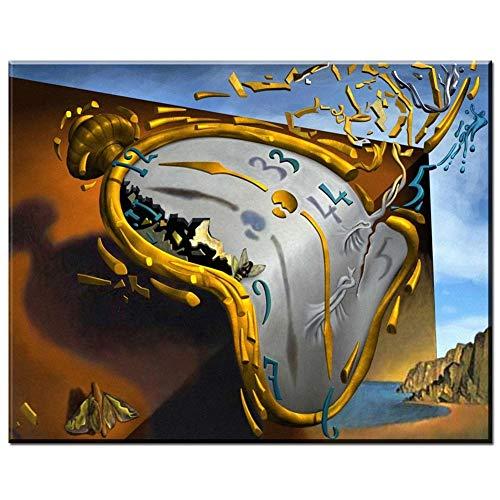 5D DIY Diamante Pintura Kit por adulto/niño,Reloj Diamond Painting Grande Taladro Completo dot Rhinestone Bordado de Punto de Cruz por Sala Cuarto Decor de pared Regalo 80x120cm,31.5x47.2in