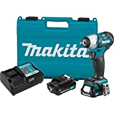 Makita WT05R1 12V max CXT Lithium-Ion Brushless Cordless 3/8' Sq. Drive Impact Wrench Kit (2.0Ah)