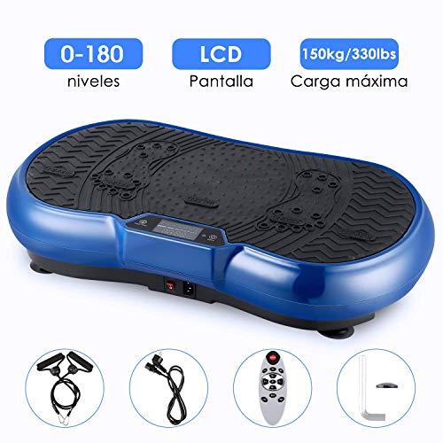 Plataforma Vibratoria, EVOLAND Máquina de Ejercicio Entrenamiento Anti-Deslizante con Altavoz Bluetooth y Motor Silencioso