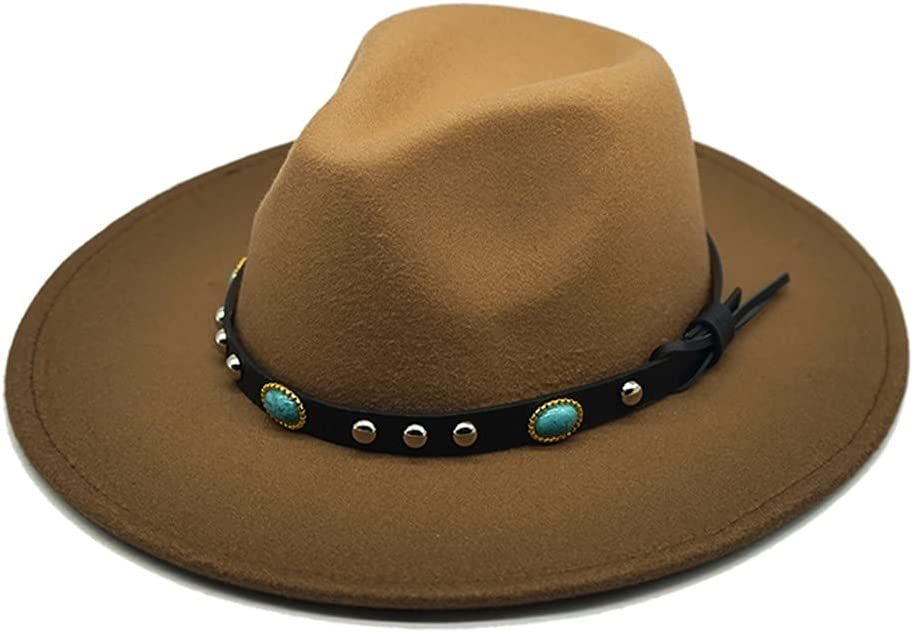 Autumn and Winter Gradient Wool Under blast sales Branded goods Felt with Buckle Fedora Hat Thin