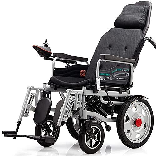 LLSS Silla de Ruedas eléctrica Plegable con llanta neumática, cómodas sillas de Ruedas eléctricas motorizadas para Todo Terreno, cómodas sillas de Ruedas eléctricas motorizadas, re