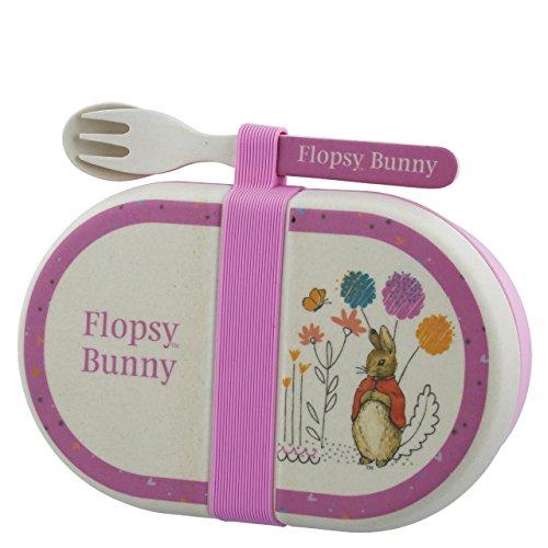 Beatrix Potter Flopsy Snack Box Cutlery Set, Bambus fibers, Mehrfarbig, 6.5 x 1.8 x 0.65 cm