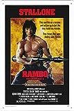 Rambo Movie Poster Home Theater Decor Metall Blechschild