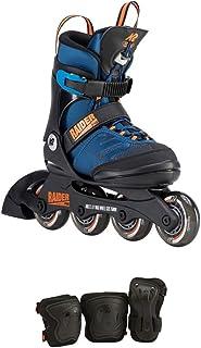 K2 滑板青年 Raider Pro Pack 直排溜冰鞋,蓝色/橙色 11-2 I190200501