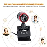 USB Camera, USB2.0 16MP HD Webcam Web Camera Cam 360° Webcams with MIC