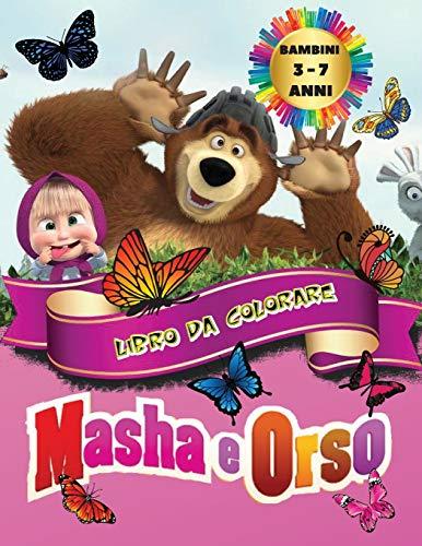 Masha e Orso - Libro da Colorare Bambini 3 - 7 Anni: Tutti felici con questo libro da colorare di Masha e Orso, i personaggi molto amati dai Bambini.