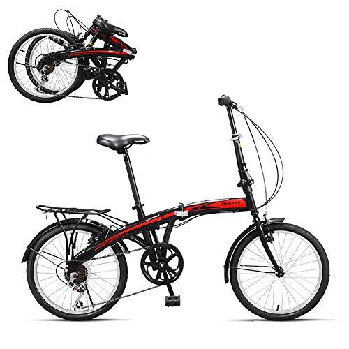 TopBlïng Plegable,para Ciudad Ciclismo, Mujeres Bicicleta De Ciudad,20 Pulgadas Rueda,7 Velocidades,Adulto Folding Bike Conmutar Trabajo para Estudiantes Adolescentes-C