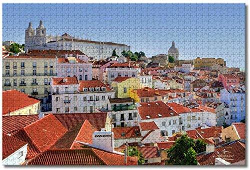Puzzle  Portugal Alfama Lisboa Rompecabezas Adultos niños Rompecabezas 1000 Piezas Rompecabezas de Madera Regalo decoración del hogar Recuerdo de Viaje Especial