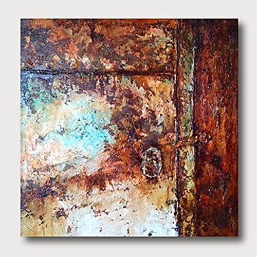 YHXIAOBAOZI Pinturas Al Pintura Al Óleo Pintado A Mano El Óxido sobre Lienzo Pinturas De Paisajes Abstractos Tamaño Grande Moderna Decoración Ilustraciones De Pared Cuadrados para Entrada Salón Dor