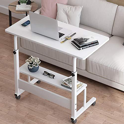 Huiiv Mobiler Schreibtisch Computertisch Schreibtisch PC-Tisch Büromöbel, mit Stauraum, höhenverstellbar, mit Rollen, 80 * 40 cm, für das Home Office
