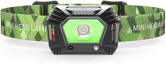 LED koplamp, USB oplaadbare zaklampen, waterdicht, verstelbare hoofdband, compact en lichtgewicht, handsfree sensorkoplamp...