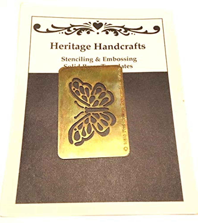 Butterfly Brass Stencil 1.7 x 2.3 Inch by Heritage Handcrafts