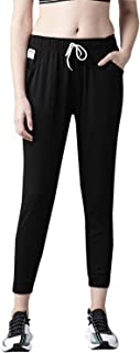 Hubberholme Women's Cotton & Polyester Fabric Solid Sports Track Pants Apparel