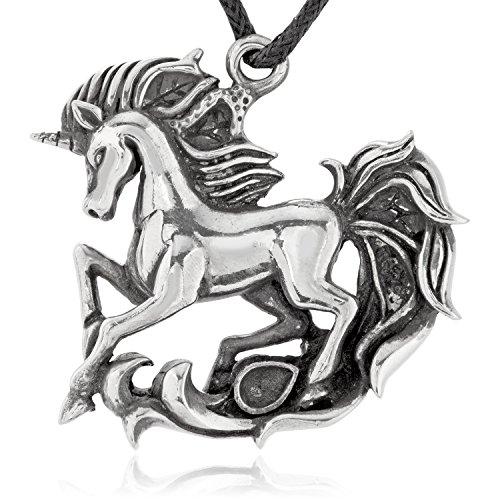 Joyería Llords   Collar con colgante Unicornio Místico, cierre bañado en plata, Joyas de...