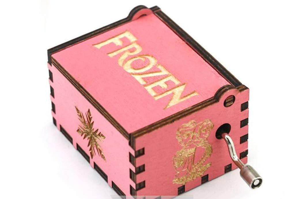 WooMax Caja de música Frozen, Color Rosa, manivela de Mano de ...